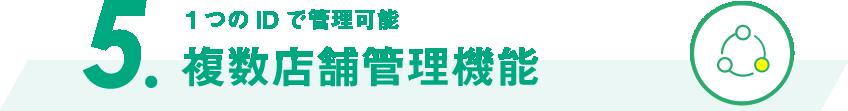5.【複数店舗管理機能】1つのIDで管理可能